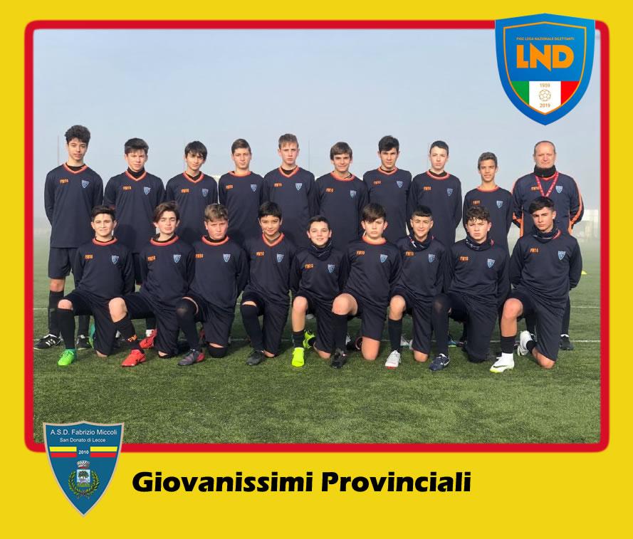 ASD Fabrizio Miccoli - Categoria Giovanissimi Under 15 Provinciali