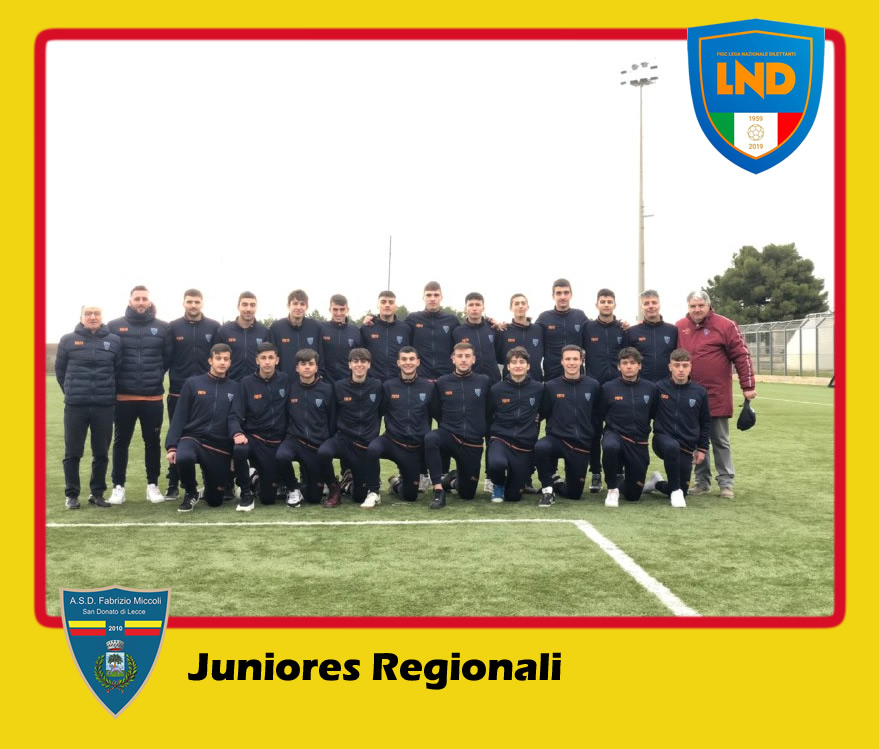 ASD Fabrizio Miccoli - Categoria Juniores Uner 19 Regionali