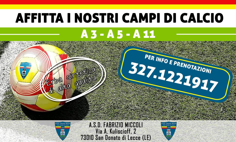 Affitto campi di calcio Lecce Salento