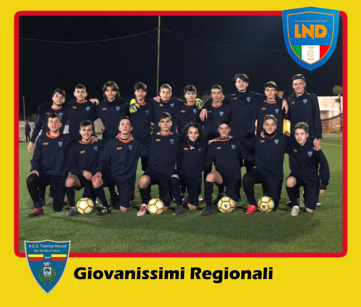 ASD Fabrizio Miccoli - Categoria Giovanissimi Regionali